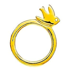 MARC BY MARC JACOBS~love bird~RING~Gold~SIZE 6